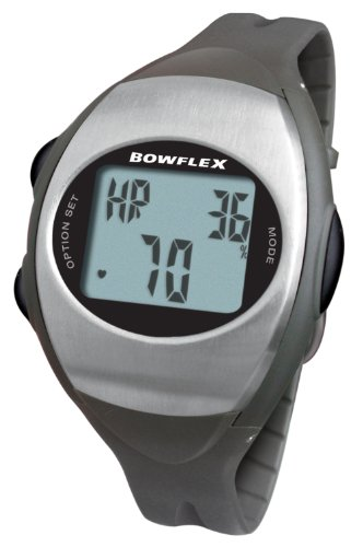 Bowflex Fitwatch Strapless Heart Rate Monitor with Built in Compatible Chest Strap App (Black/Gray)