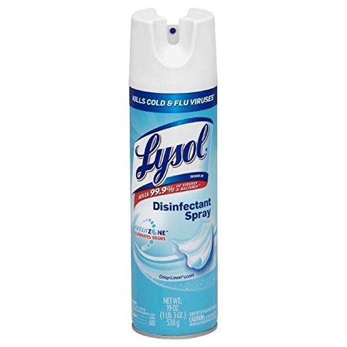 Lysol Disinfectant Spray, Crisp Linen, 19oz (Pack of 9)