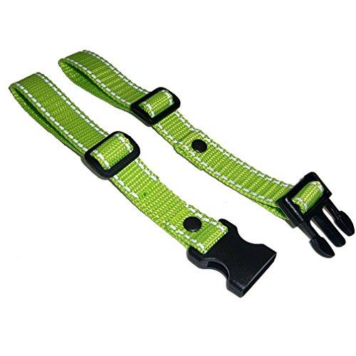 GURTIES® Brustgurt für Schulranzen Schulrucksack Rucksack universal (Limone/neongrün mit Reflektorband)