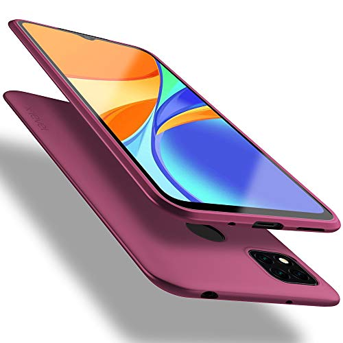X-level Funda para Xiaomi Redmi 9C, Carcasa para Xiaomi Redmi 9C Suave TPU Gel Silicona Ultra Fina Anti-Arañazos y Protección a Bordes Funda Phone Case para Xiaomi Redmi 9C - Vino Rojo