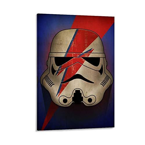 Poster su tela con stampa a forma di drago con vigneti impero Stormtrooper Galaxy Force Clone Soldier Imperial Ziggy Helmet Decorazione per la casa 20 x 30 cm