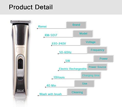 Kemei Original Kemei Km-5017 Rechargeable Professional Hair Trimmer for Men, Women - Multicolor