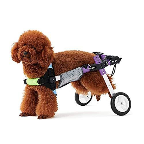 HWhome Rollstuhl Verstellbar 2 Räder Hunderollstuhl for Alter Hund, Katze, Kaninchen, Roller Hund Rollstuhl Einstellbare for Klein Und Mittel Hund Haustier Roller Hundewagen(2 Größen)(Size:XS)