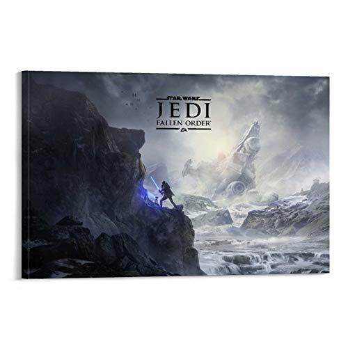 SSKJTC Elegante lienzo artístico de la película Star Wars de Jedi Fallen Order Office Living Decor (60 x 90 cm)