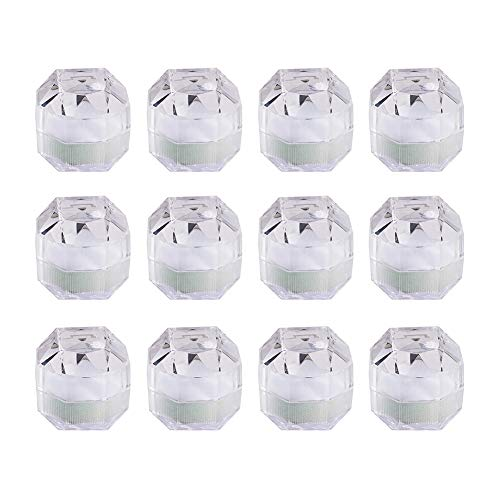 Beadthoven 20個セット 3.8x3.8CM クリア リングケース 透明 ジュエリーボックス ジュエリーケース リングボックス 指輪ケース クリスタル ケース ネックレス ペンダント ピアス 箱 ボックス BOX アクセサリー 用品 アクセサリー