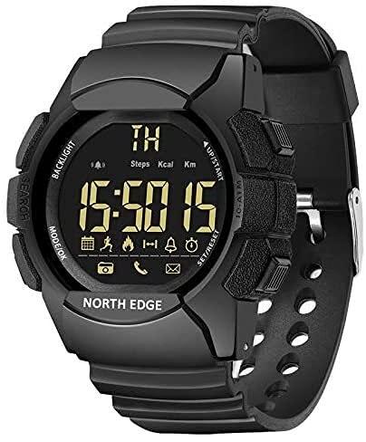 X&Z-XAOY Reloj Inteligente para Hombre Reloj De Pulsera Deportivo Digital 33 Meses De Tiempo En Espera Cristal Resistente A Arañazos Reloj Inteligente Bluetooth 100M Impermeable
