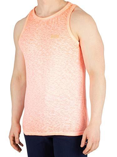 Superdry Tank Heren Low Roller Vest Bright Blast Coral