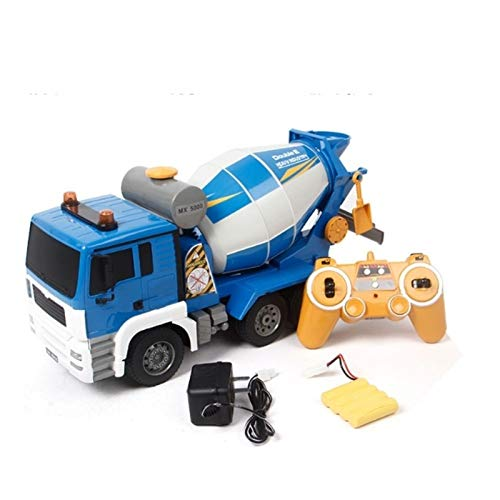 MUMUMI Simulación Large 1/20 camión, demostración automática con luces Camión de control remoto, juguete de coche de mezclador de 2.4 g recargable, regalo de coche de juguete de control remoto de Navi