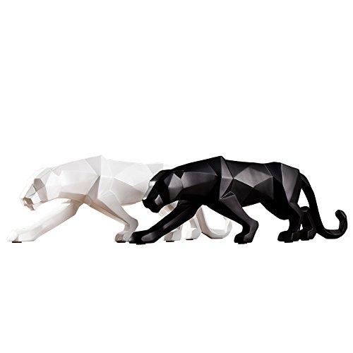 Kimmyer 2 Piezas de Estatua de Leopardo, Figura de Animal de Escultura...