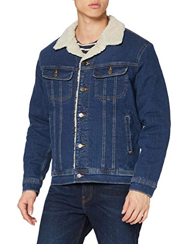 Lee Sherpa Jacket Giacca di Jeans, Dark Sidney, M Uomo