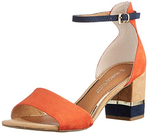Marco Tozzi Damen 2-2-28303-26 Sandale mit Absatz, Terracotta C, 36 EU