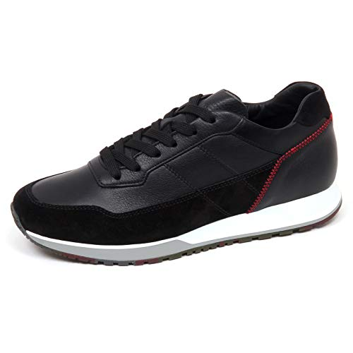 Hogan F0108 Sneaker Uomo Black H321 Scarpe H Stitching Shoe Man [6.5]
