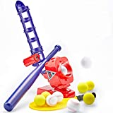 CubicFun Baseball Pitching Machine for Kids Outdoor Toys for Kids 6-12 Boys Girls, Baseball Tennis...