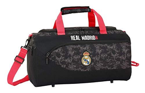 Real Madrid CF- Bolsa deporte, Color negro (Safta 711924553)