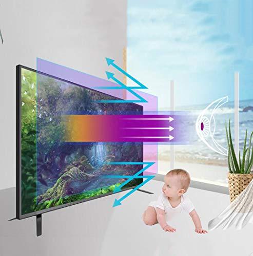"""Protector de pantalla de TV Anti filtro de luz azul, Protector de pantalla ultra claro Anti Scratch Anti Glare Aliviar la tensión del ojo Película protectora de monitor para 32-75"""",50"""" 1095*616mm"""