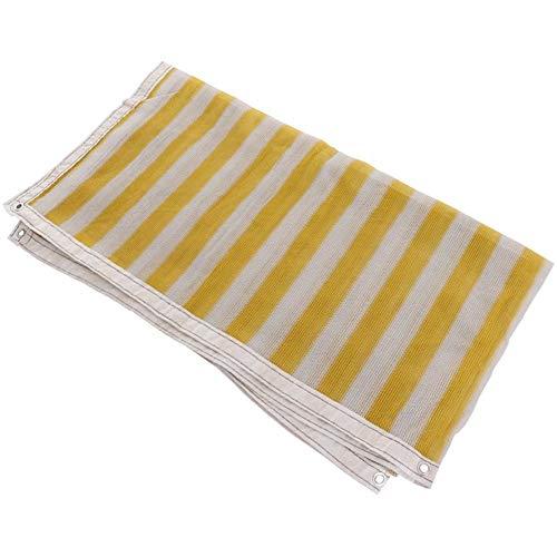 Atmungsaktives Sonnenschutznetz mit Overshadow-Mesh Anti-UV-Alterungsbeständigkeit aus Polyethylen, leicht faltbar, Dachbedeckung für Gartenarbeiten, Gelb + Weiß ZHAOFENGMING