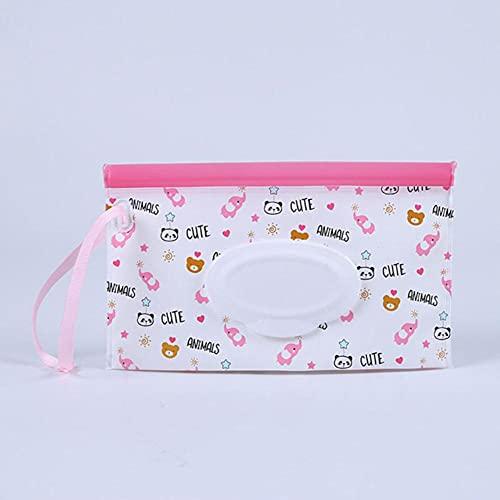 Caja portátil de toallitas húmedas para bebés Contenedor de toallitas Respetuoso del medio ambiente Fácil de transportar Estuches de toallitas de limpieza cosmética 23 * 13.5CM-Objeto flotante, Chin