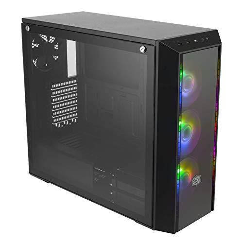 Cooler Master MasterBox Pro 5 ARGB ATX Mid-Tower con Tres ARGB de 120 mm, diseño Adaptable E-ATX hasta 10.5 Pulgadas, Panel Frontal DarkMirror, Vidrio Templado y Sistema de iluminación ARGB
