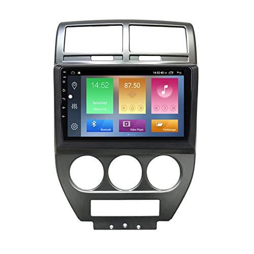 ADMLZQQ Android Radio De Coche Autoradio, Apoyo Llamadas Manos Libres/FM Radio/SWC/WiFi/Bluetooth, para Jeep Compass MK 2006-2010 con Cámara De Visión Trasera,M500 4+64g