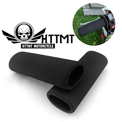 HTTMT ET006- Motorcycle Foam Anti Vibration Comfort Handlebar Grip Cover Compatible with Honda Harley BMW