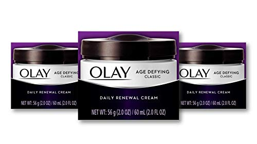 Olay Age Defying Classic Daily Renewal Cream, Face Moisturizer, 2.0 fl oz -Pack Of 3 (Packaging may Vary)