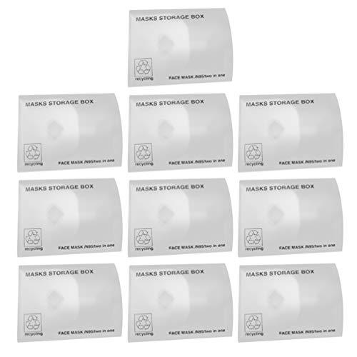 Artibetter Lot de 10 boîtes de protection de visage jetables et portables pour le travail, l'école