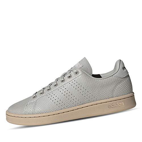 adidas Advantage, Scarpe da Tennis Donna, Metallo Grigio/Metallo Grigio/Platino Met, 38 EU