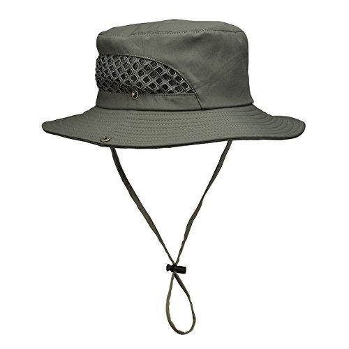 CHIC DIARY CHIC DIARY Frauen Damen outdoor Sommer Fischerhut Safari hut UV Schutz faltbar Sonnenhut(Armeegrün)