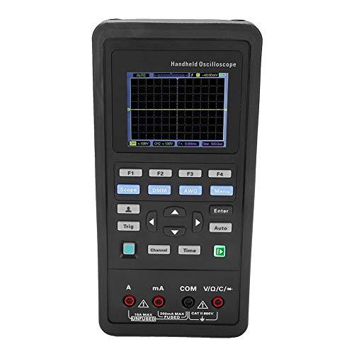 Hantek Osciloscopio digital 70MHz / 40MHz Osciloscopio de 2 canales Multímetro 25M Generador de señal AC100-240V(2D72)