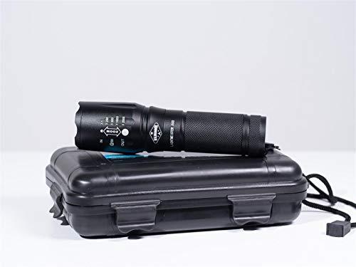 Waldhammer taktische Taschenlampe Lichtmeister 500 | Super-Effiziente 500 Lumen LED Strahler | Wetter-, Wasser- und Stoßfest | Stufenloser Präzisionsfokus | Prepper Taschenlampe