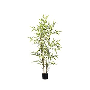 PIVFEDQX Artificial Tree Simulation Tree New Chinese Lifelike Bamboo Artificial Tree Evergreen Plant Tree Branch PE Fake Tree Wedding Home Furniture Decor Green Fake Trees (Size : 130cm)