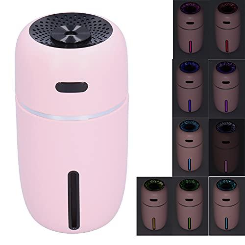SHYEKYO Humidificador, Humidificador USB Alimentación por USB con luz de Noche Ambiental para Dormitorio para Sala de Estar(Pink, Pisa Leaning Tower Type)