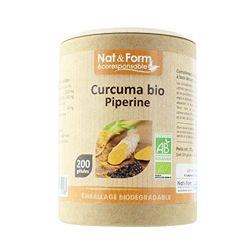 Nat & Form Curcuma Piperine Bio 200 gélules