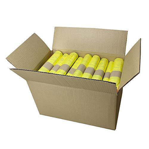 VARIOSAN Gelber Sack 12692, 650 Stück, 50 Rollen im Karton, 90 L, 15 µm