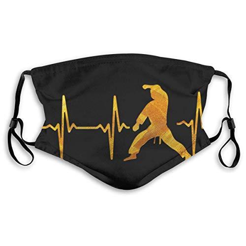 weweScarves My Heart Beat für Martial Arts Bandanas für Herren Schal für Outdoor Sports Neck Gaiter mit M Black