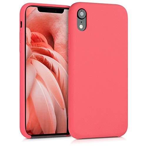 kwmobile Hülle kompatibel mit Apple iPhone XR - Handyhülle gummiert - Handy Case in Neon Koralle