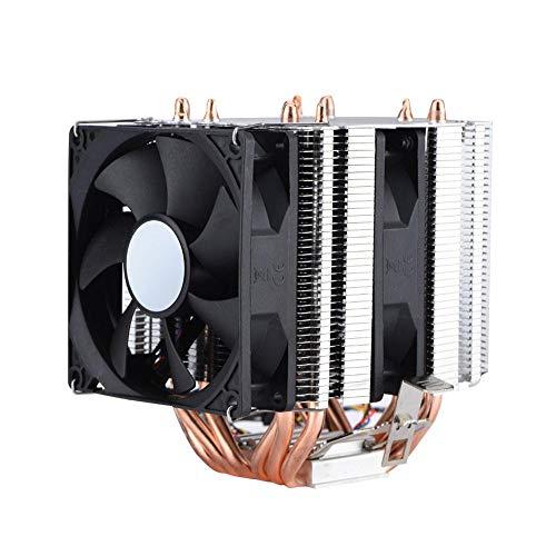 Bewinner 4pin 6 Heatpipe-CPU-Kühler Dual-Tower-Luftkühlung CPU-Lüfterlüfter 800-2200 Revolution Heatpipe Ruhiger CPU-Kühler für AMD, Intel 775 1150 1151 1155 1156 1366