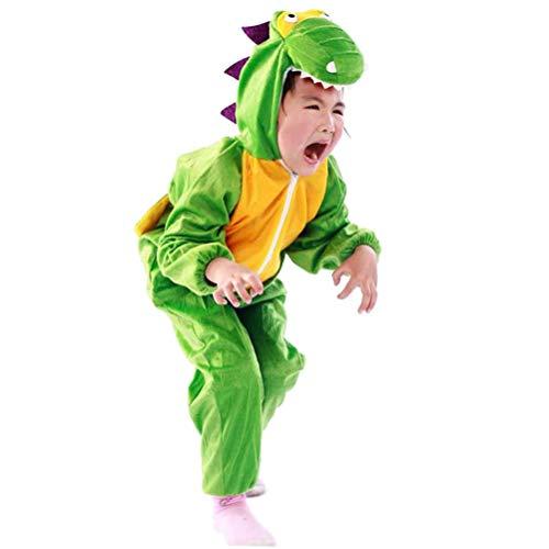 Fantasia infantil de dinossauro Amosfun Dino Halloween fantasia festival festa animal cosplay vestido verde