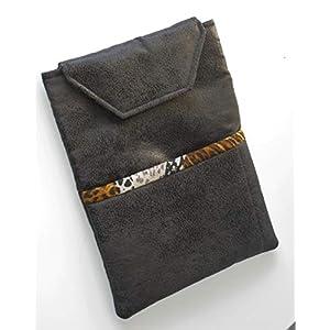 Handmade – Tablet Tasche Hülle Etui Case Sleeve – für Tablet bis 11″ Zoll (Tabletgröße 18 x 25 cm) – Velours Leder