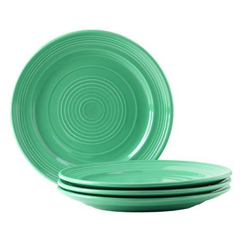 Tuxton Home Concentrix Dinner Plate (Set of 4), 10 1/2', Cilantro Green; Heavy Duty; Chip Resistant; Lead and Cadmium Free; Freezer to Oven Safe up to 500F
