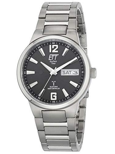 ECO Tech Time, Solar Drive Funk Everest II, orologio da uomo in titanio EGT-11321-21M