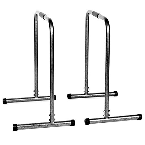 CYGJLYZ Tragbare Dip-Station, Übung Parallel Bar, Heavy Duty Dip Stand, Fitness Home Gym Dip Bar, Massiv Entwurf, 2 Farben, 26,8 X 17,9 X 31,7 Inches (Color : Black)