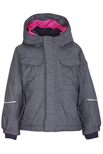 Killtec July Mini Ski-jack voor meisjes, functionele jas met capuchon en sneeuwvanger, grow up functie, kindermode die meegroeit