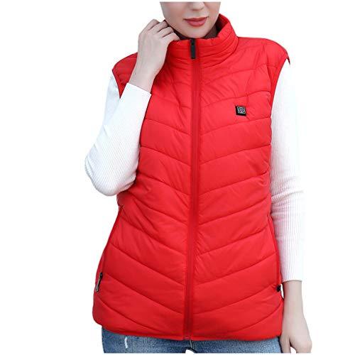 Heren & Vrouwen Wasbaar Verwarmd Zakkleding Vest Winter Warm USB Oplaadbare Verwarming Lichaam Warmer Gilet met 3 Temperatuur