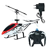 This is the latest offering from Toys, A Rechargeable 3 channel Helicopter with unbreakable blades Battery: Li-Polymer 3.7V 180mAh . For Remote 6 AA (not included) .This Helicopter contains no camera & flying range is upto 25 meters. High Quality Unb...