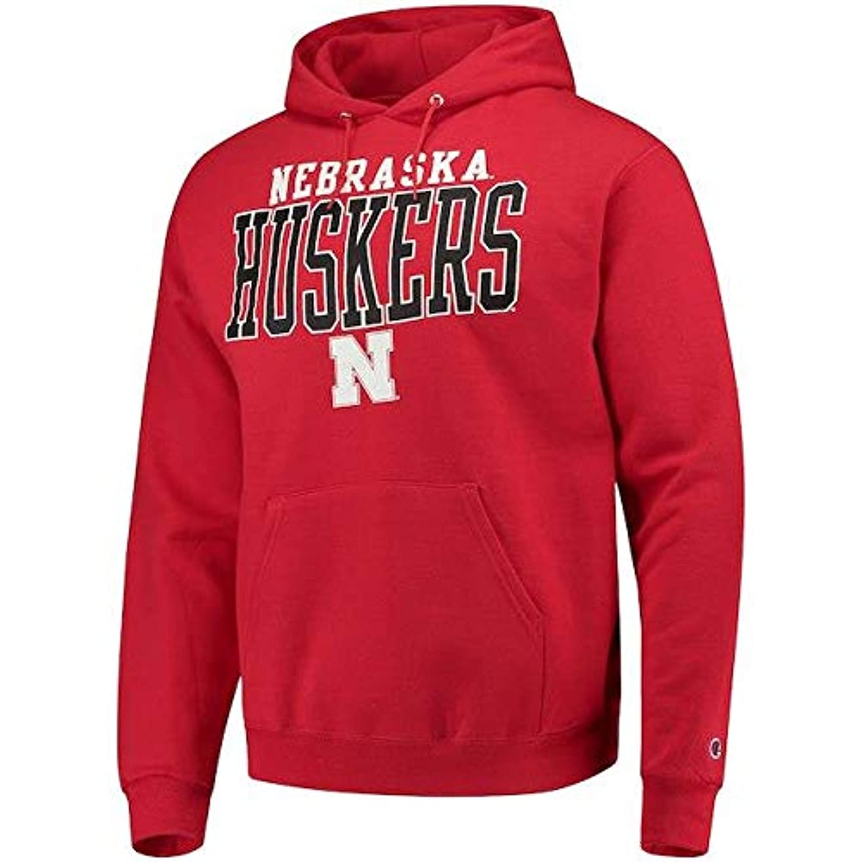 エリート舞い上がる嫌いChampion Champion Nebraska Cornhuskers Scarlet Core Powerblend Hoodie スポーツ用品 【並行輸入品】