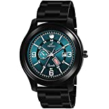 An Ideal watch for Men/Boys DIAL COLOUR :- Blue, CHAIN COLOUR :- Black, CHAIN MATERIAL - Stainless Steel, CASE SHAPE - Round Dial Diameter :- 44 mm   Width :- 26 mm   Watch Weight :- 70 g   These Watches are suitable for every occasion (outdoor, busi...