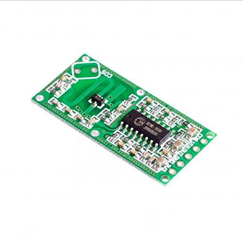 Homefunnyマイクロ波レーダーセンサーRCWL-0516 28V 3mAマイクロ波レーダーセンサー人体誘導スイッチモジュールボードスマートインダクション検出器