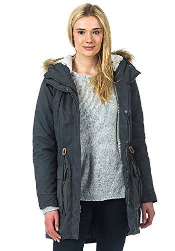 RIP CURL Mujer lonepine Jacket Chaqueta, Mujer, LONEPINE Jacket, Gris Oscuro, Extra-Small