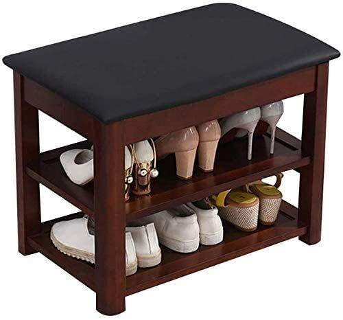 QZMX Estante de Zapatos Zapato Banco de Rack con 2 Nivel de Zapatos de Madera, Estante del Zapato de la Casa Nórdica, Dormitorio en el Sala de Entrada Estante (Color : Simple-2)